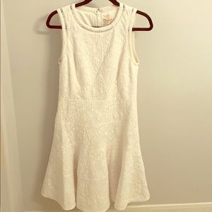 Rebecca Taylor Stretch Textured White Dress